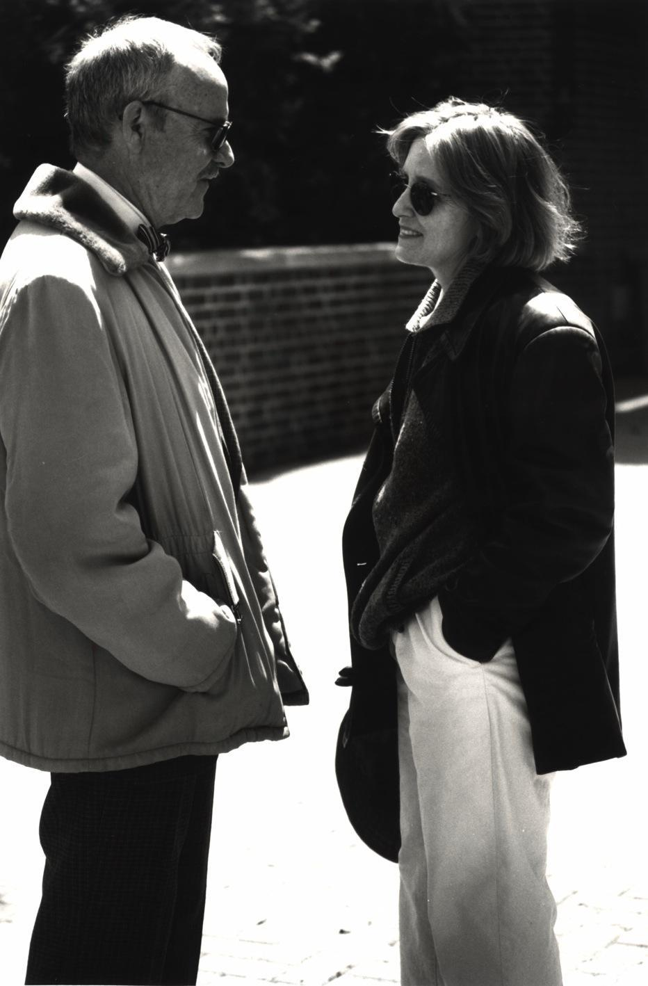 Laura Ziskin and Buck Henry, 1995