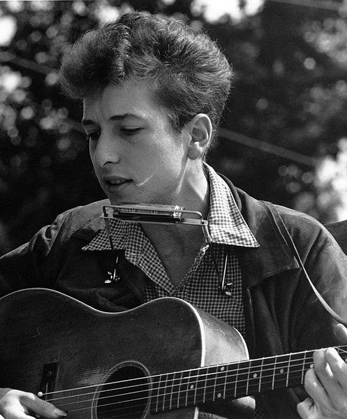 Bob Dylan at the Civil Rights March, August 28, 1963