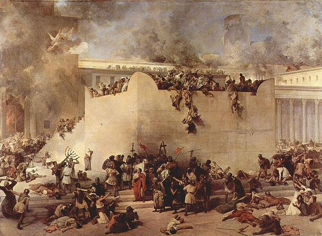 """Destruction of the Temple"" by Francesco Hayez, 1867"