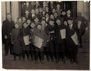 Jewish Daily Forward Newsboys in 1913