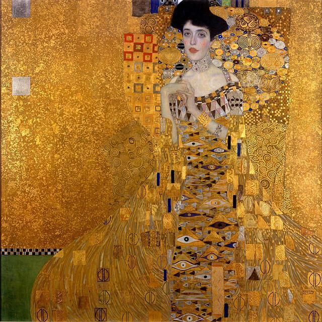 """""""Adele Bloch-Bauer's Portrait,"""" 1907 by Gustav Klimt"""