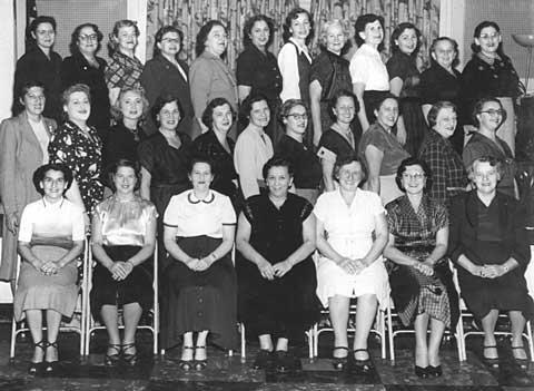 The Orthodox Congregation B'nai David Sisterhood of Detroit, Michigan, circa 1950