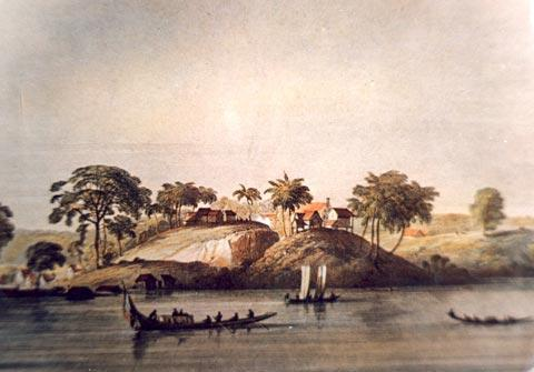 """Jerusalem on the Riverside - View of the Jewish Savanna from the Suriname River"" by Pierre Jacques Benoit, circa 18th Century"