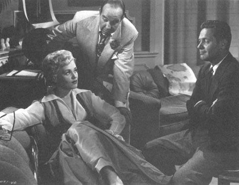 Judy Holliday with William Holden and Broderick Crawford, 1950