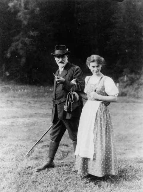 Anna Freud and Sigmund Freud in the Dolomite Alps, Italy, 1913