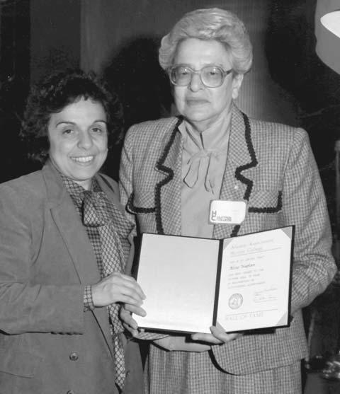 Aline Kaplan and Donna Shalala at Hunter College, 1983