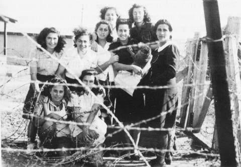 Irgun Zeva'i Le'ummi Women, Athlit Internment Camp, 1948