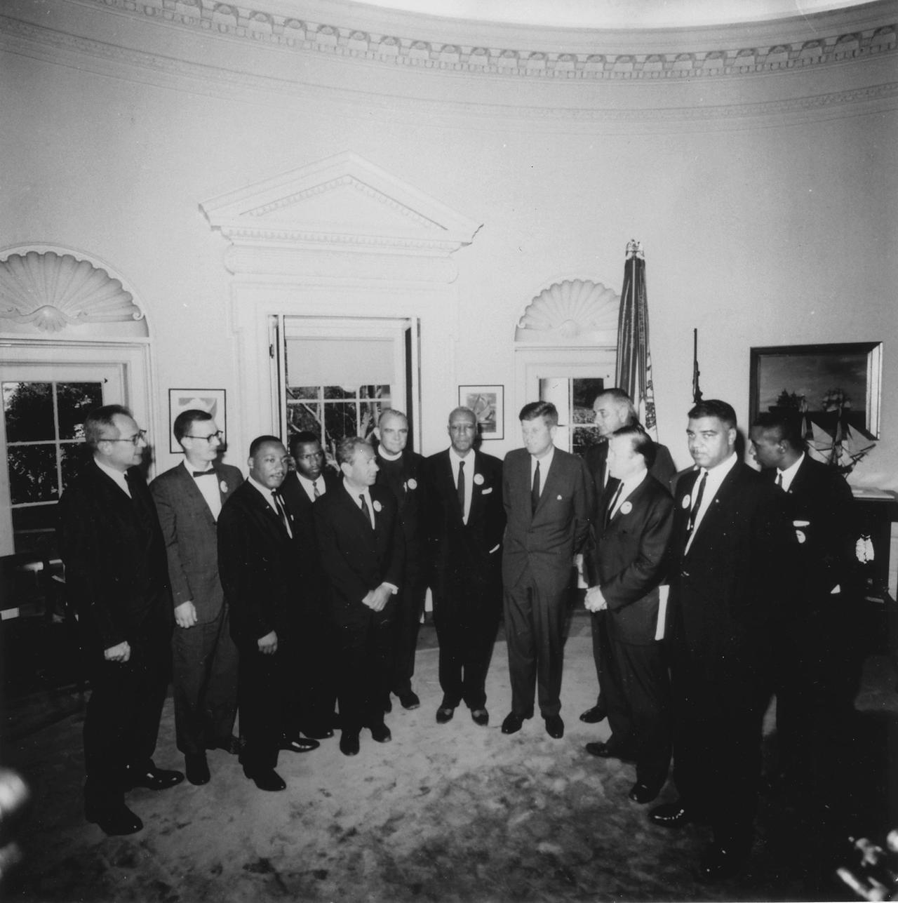 President Kennedy Meeting with Leaders of the March on Washington