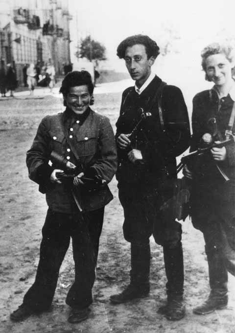 Abba Kovner, Rozka Korczak, and Vitka Kempner-Kover, Vilna, July 1944