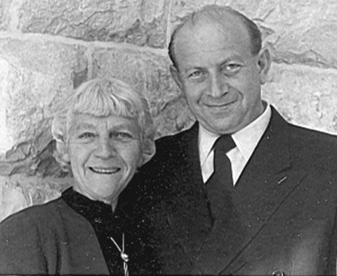 Bertha Landsman and Dr. Kalman Mann circa 1943-1959