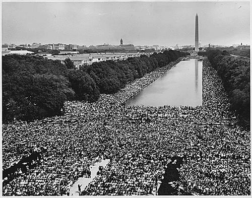 March on Washington - View of crowd and reflecting pool