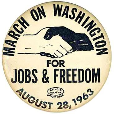 March on Washington Button, 1963