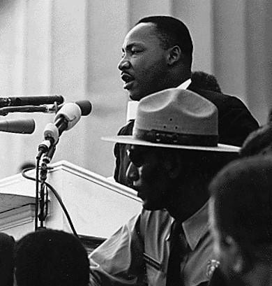 Martin Luther King, Jr. speaking at the March on Washington