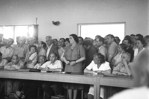 Golda Meyerson (Meir) at Histadrut Headquarters, May 29, 1946