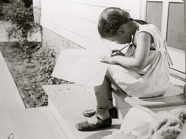 Norma Fox Mazer in Glens Falls, NY, c. 1937.