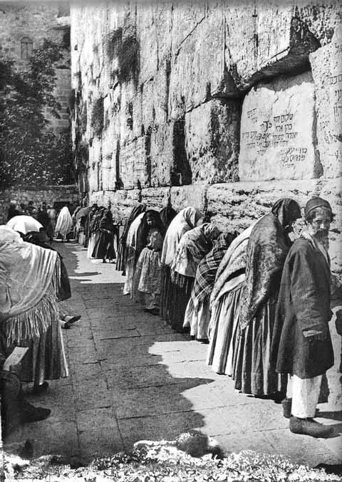 Old Yishuv, People Praying at the Western Wall