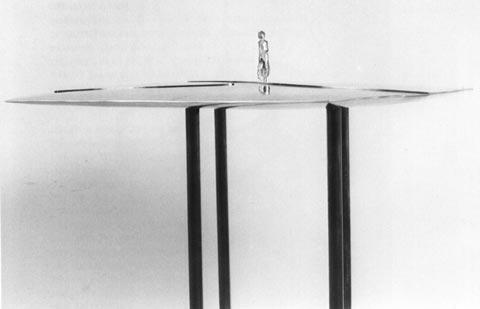 A Figure in a Quiet Landscape by Tamara Rikman, 1995