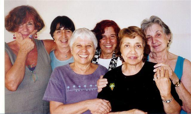 """Six Sephardic cousins"" - Rita Arditti with sisters and cousins"
