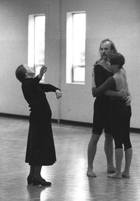 Anna Sokolow Instructing Two Dancers, 1988