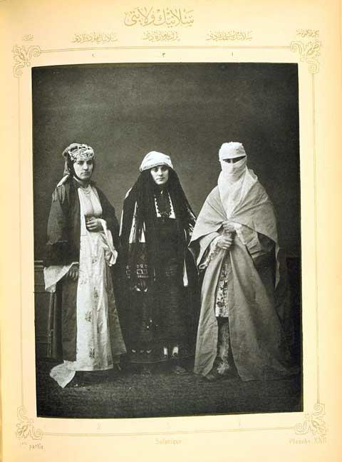 Women in Traditional Clothing from Salonikia, 1873