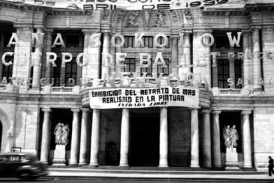 Marquee announcing Sokolow's performance in Mexico City