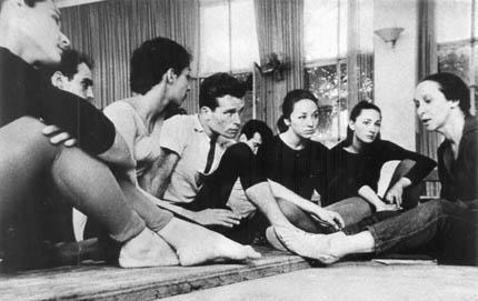Sokolow rehearsing with members of Lyric Theatre in Israel