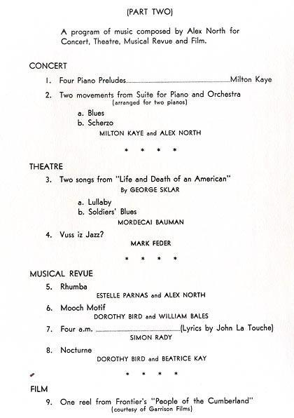 Program from a performance by Sokolow at New York's 92nd Street Y