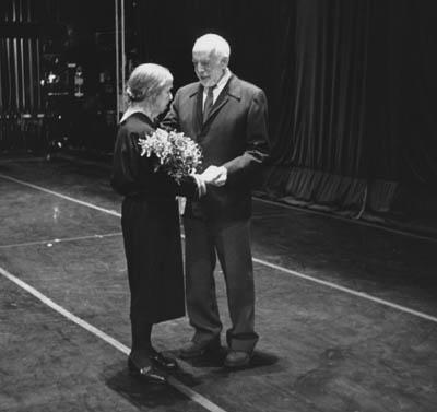 Sokolow with Jerome Robbins at the Anna Sokolow 85th Birthday Gala