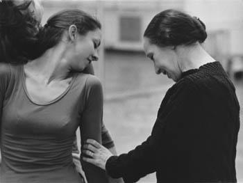 Sokolow (right) rehearsing with unknown dancer