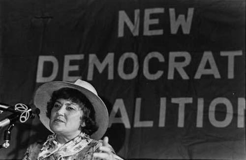 Bella Abzug at National Democratic Coalition Meeting, 1976