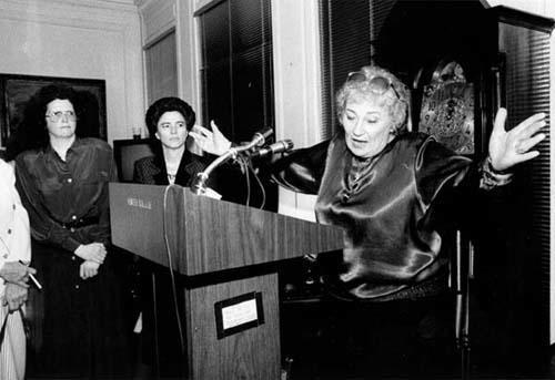 Abzug Speaking at Women
