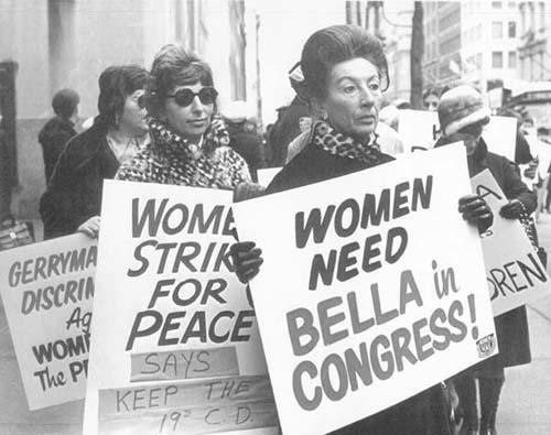 Women Protesting the Dissolution of Abzug's 19th Congressional District