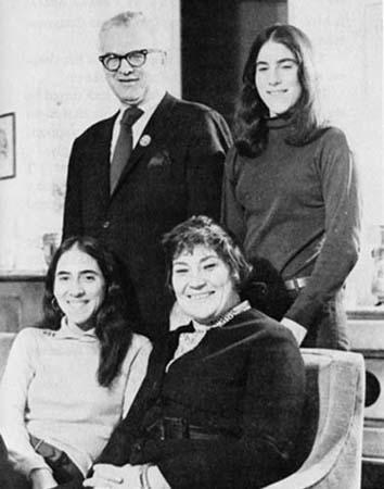Martin, Liz, Eve and Bella Abzug During the Congressional Campaign