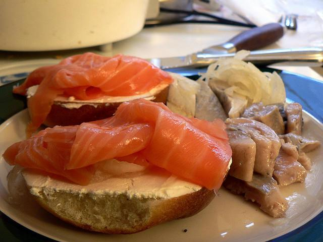 Bagel, Lox, and Cream Cheese