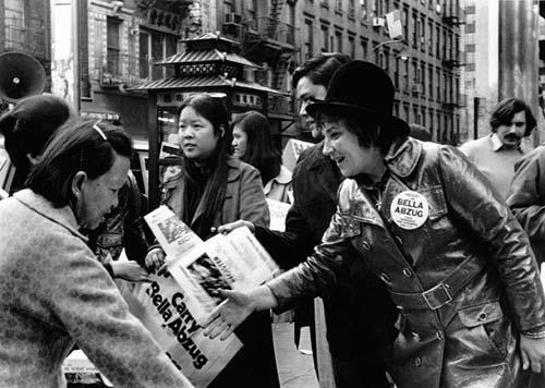Abzug Campaigning in Manhattan