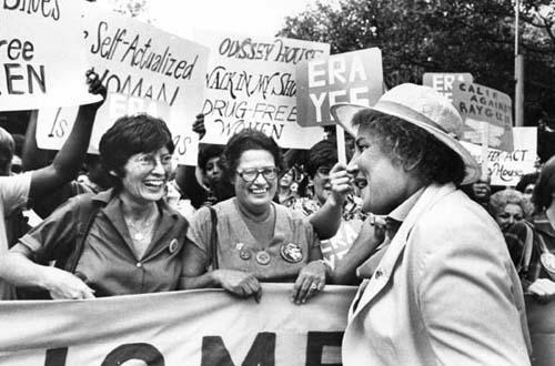 Abzug at a Women's Equality Day March in New York City