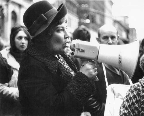Bella Abzug at a Women Strike for Peace Protest