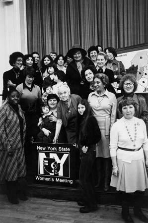 New York State Women's Meeting Group Portrait, 1977