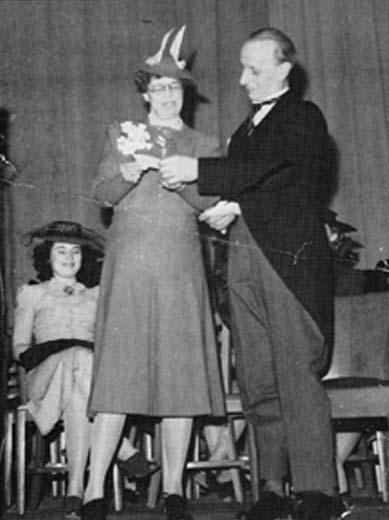 When Eleanor Roosevelt Came to Visit Hunter College, Student Body President Abzug was on Stage to Greet Her.