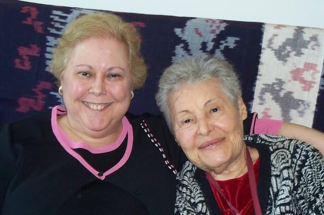 Batsheva (Shevi) Salberg with Sara Bock