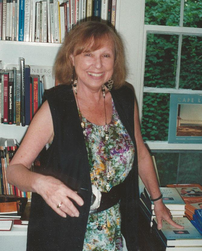 Betty Jean Lifton in her Bookstore