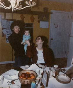 Barbara Myerhoff with Edith Turner's Daughter and Granddaughter, circa 1984