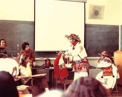 Ramon Medina Silva Visiting Myerhoff's Class