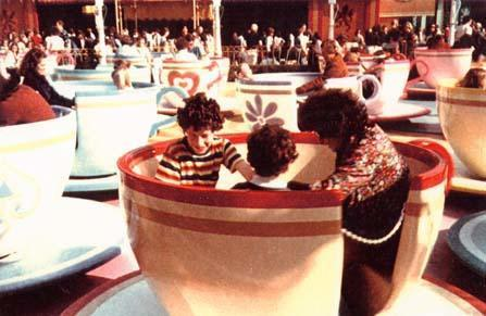 Myerhoff with Children Nick and Matt on her Favorite Ride