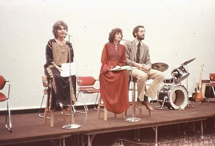 Myerhoff (center) Performing at the Life Not Death in Venice Exhibit