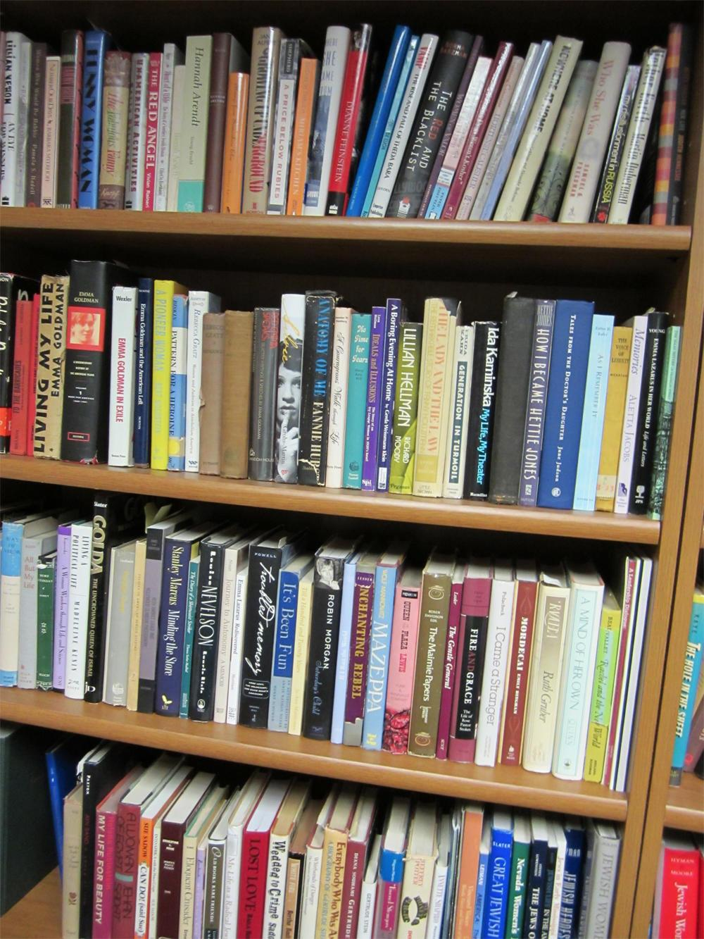 Bookshelf and books