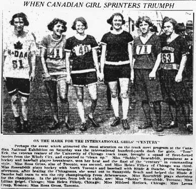 Except from an article in the Globe and Mail (Photo taken in 1923), 1940