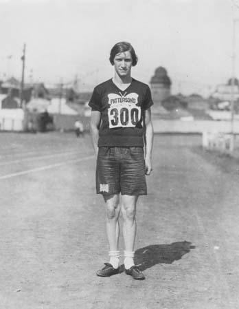 Bobbie Rosenfeld on a Track Field
