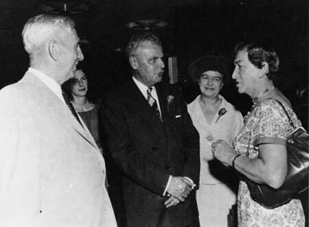 Bobbie Rosenfeld with John Diefenbaker