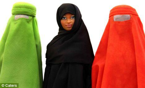 Image of Barbie with a Burqa